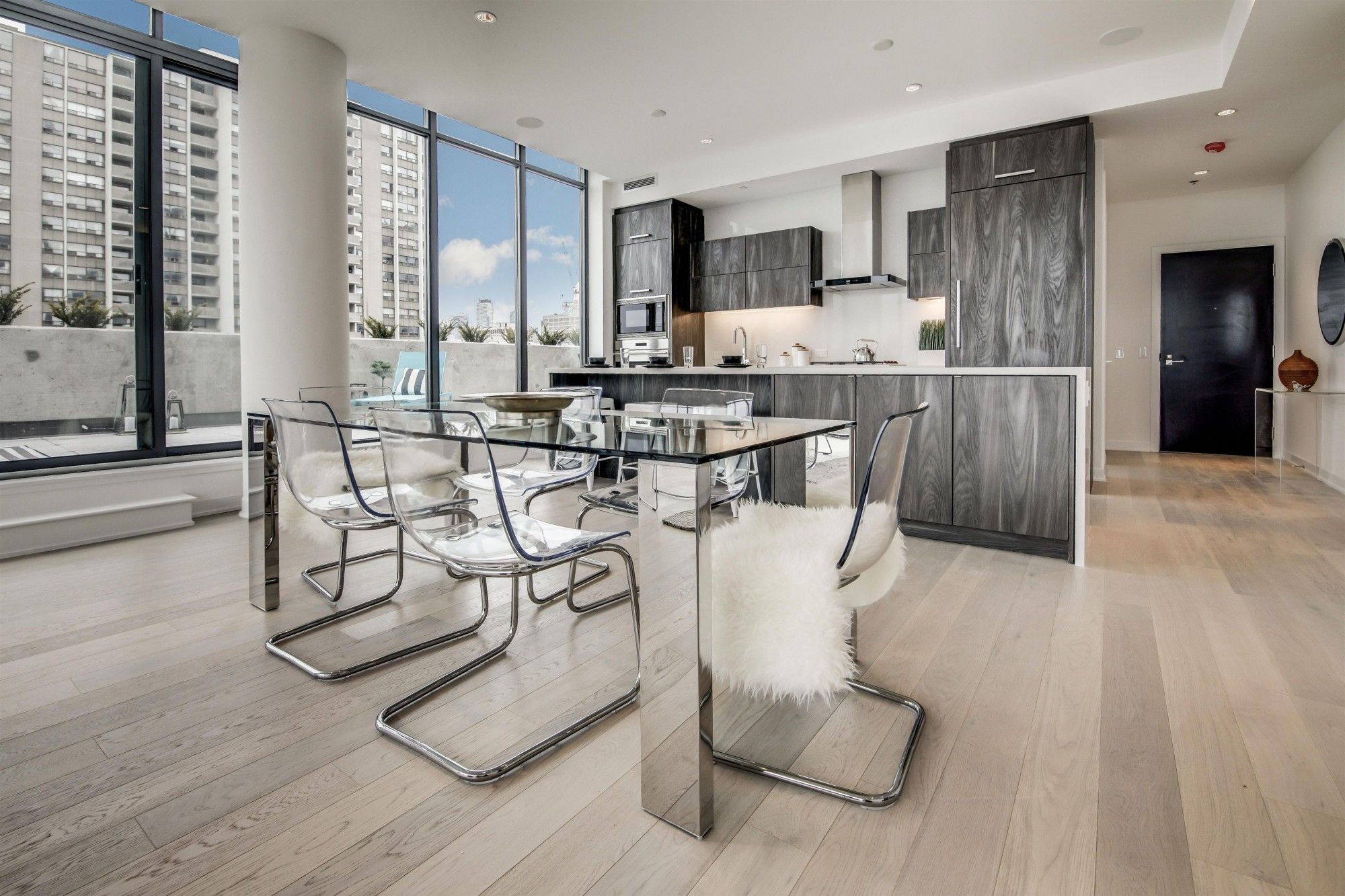 Toronto, Ontario Condo Engineered wood floors, Home