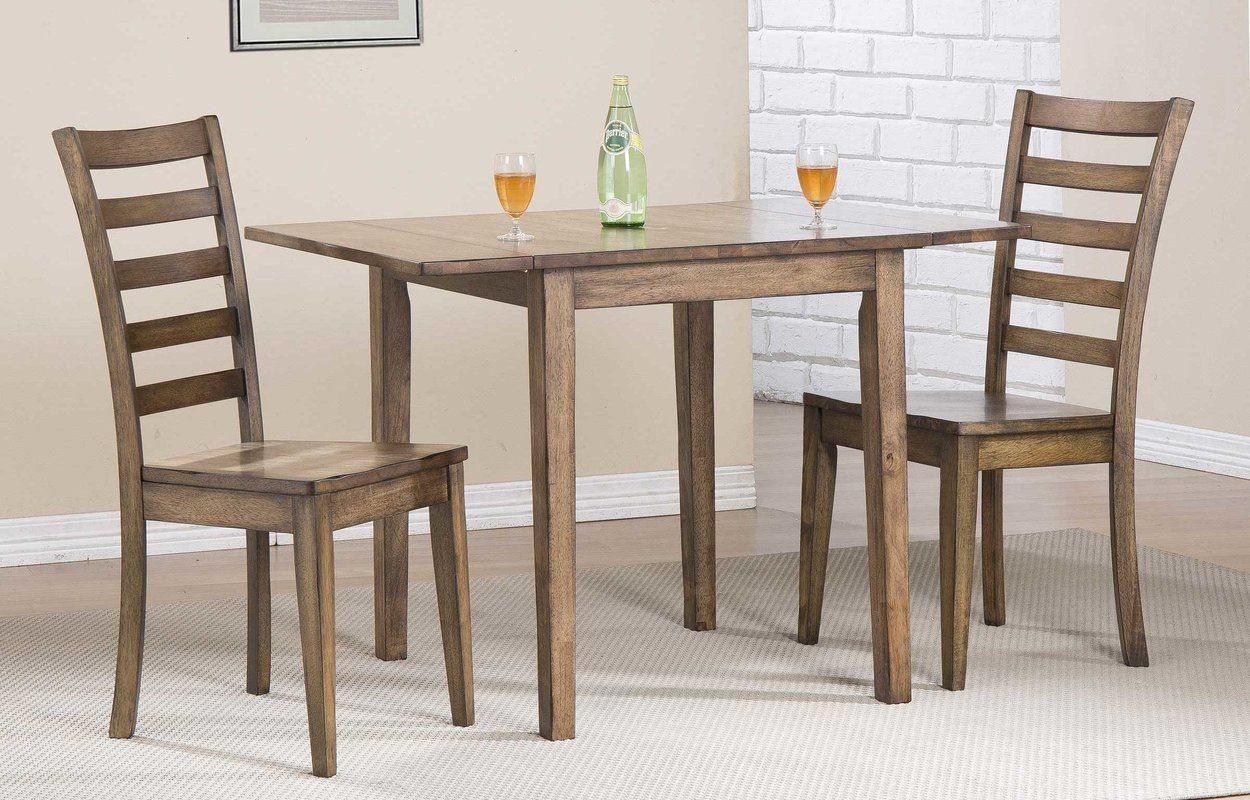 Rutledge Drop Leaf Rubber Solid Wood Dining Table  Solid wood