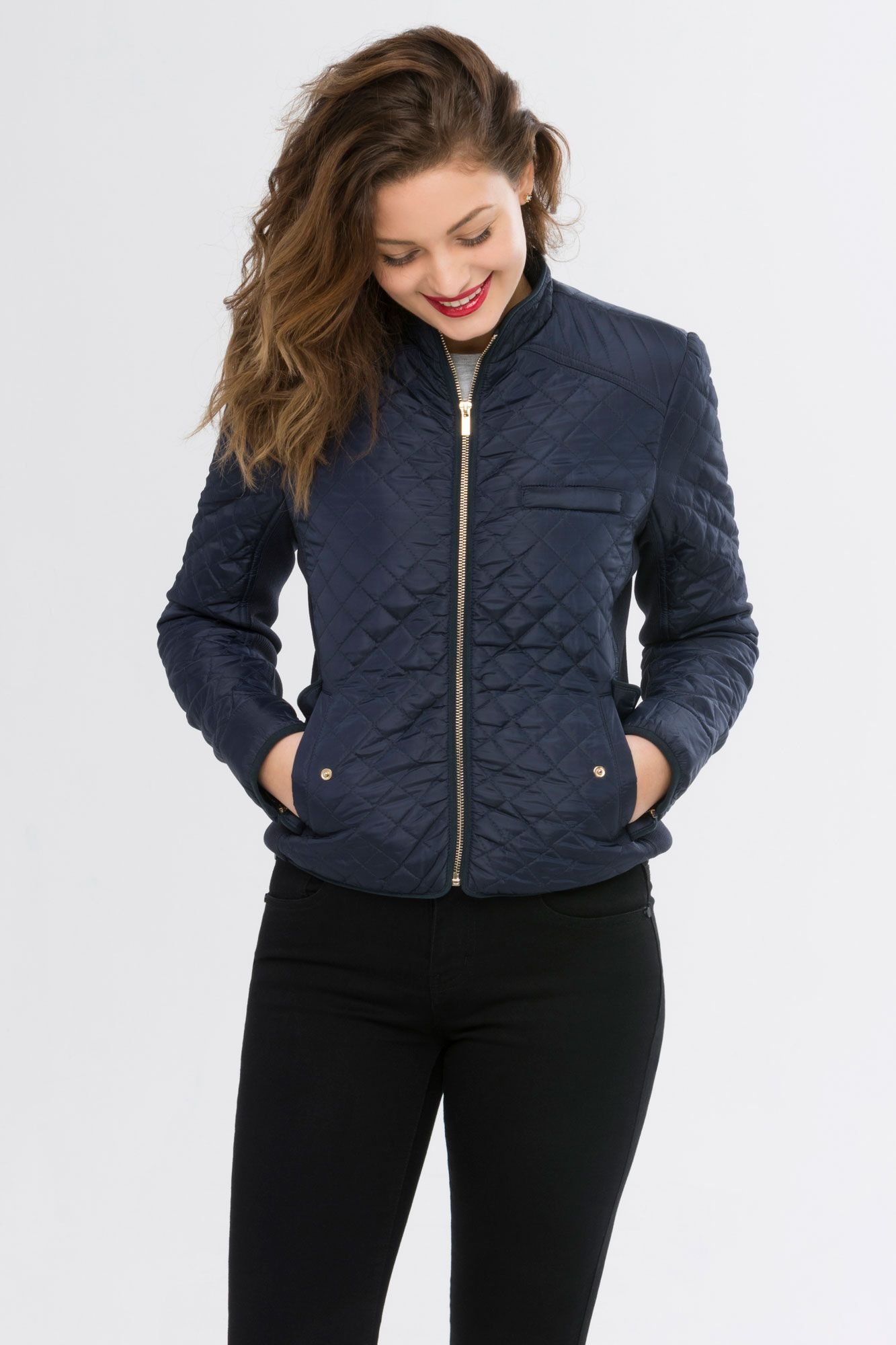 Suzy Shier Quilted Jacket