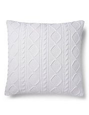 Judson Cable Knit Cushion Square Pillow Cable Knit