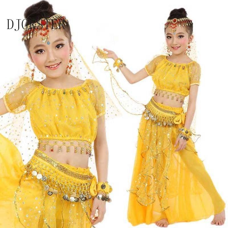 04086a6abdcd DJGRSTER New Summer Girls Belly Dancing Costume Child Oriental Dance ...
