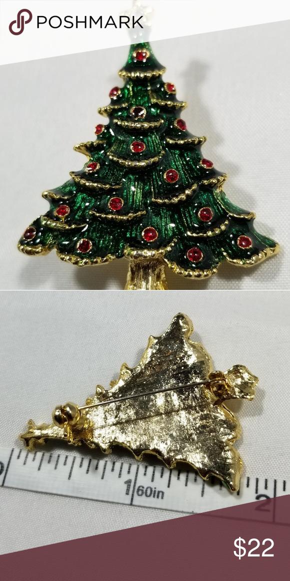 Custom Christmas Tree Holiday Brooch