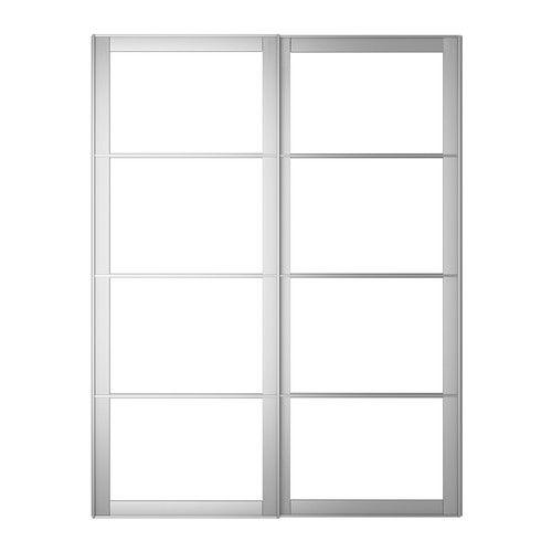 IKEA   PAX, Frame Voor Schuifdeurpaar Met Rail, 150x236 Cm, , Gratis 10