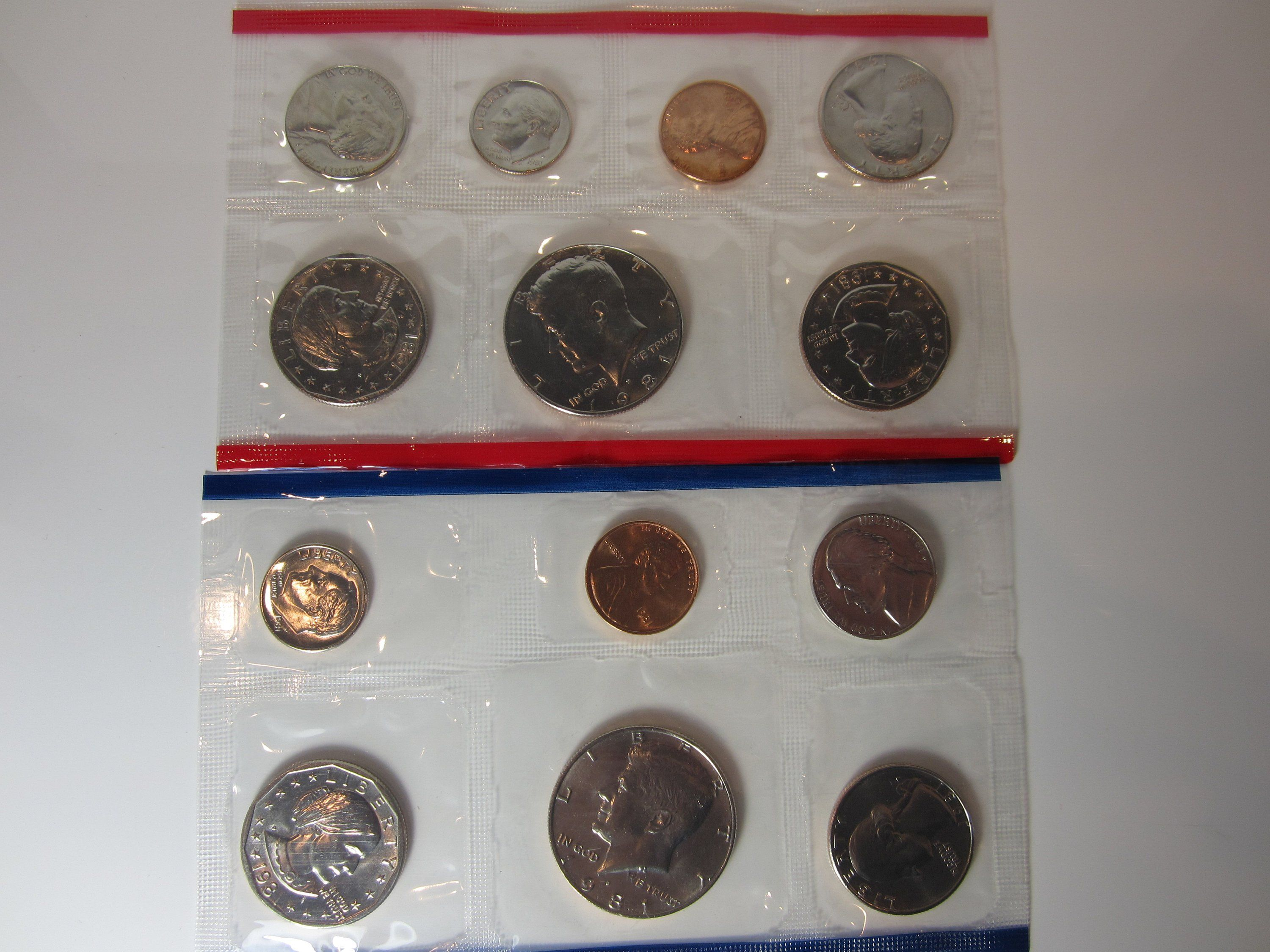 1981 Uncirculated Set US Mint Coin Set