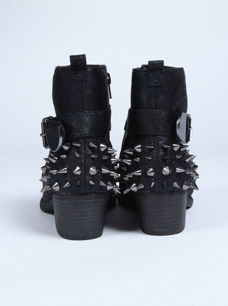 Black Ankle Boots with Studs – Obsezz