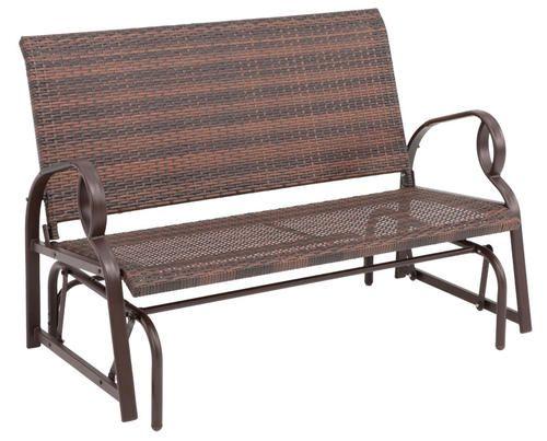 Charlevoix Wicker Glider Menards Garden Bench Outdoor Chairs Patio Benches