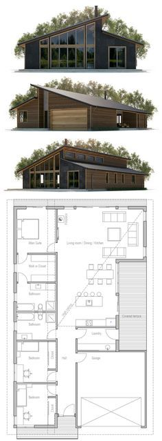 plan de maison casa de campo Pinterest - plan de maison design