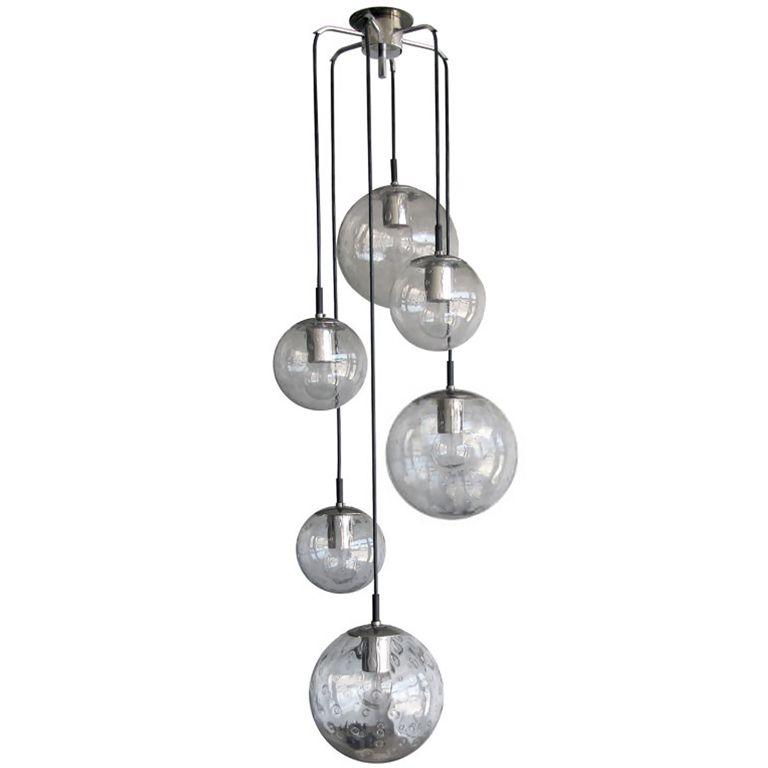 Raak six globe chandelier chandeliers pendant lighting and lights raak six globe chandelier 1stdibs aloadofball Choice Image