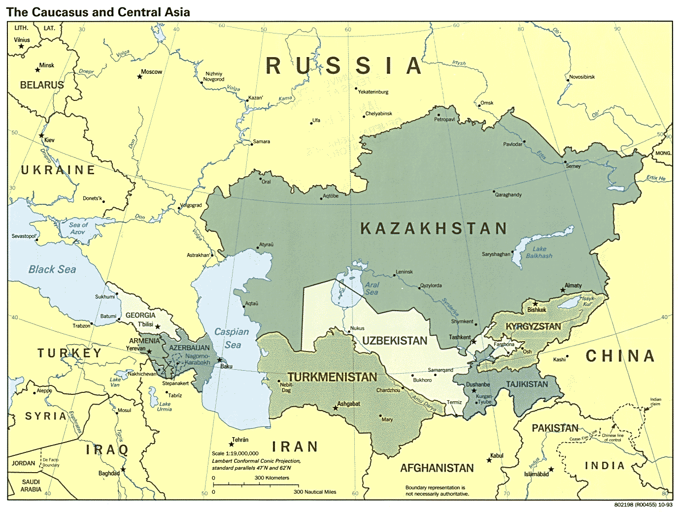 aral sea, central asia map | maps | Pinterest | Central asia map