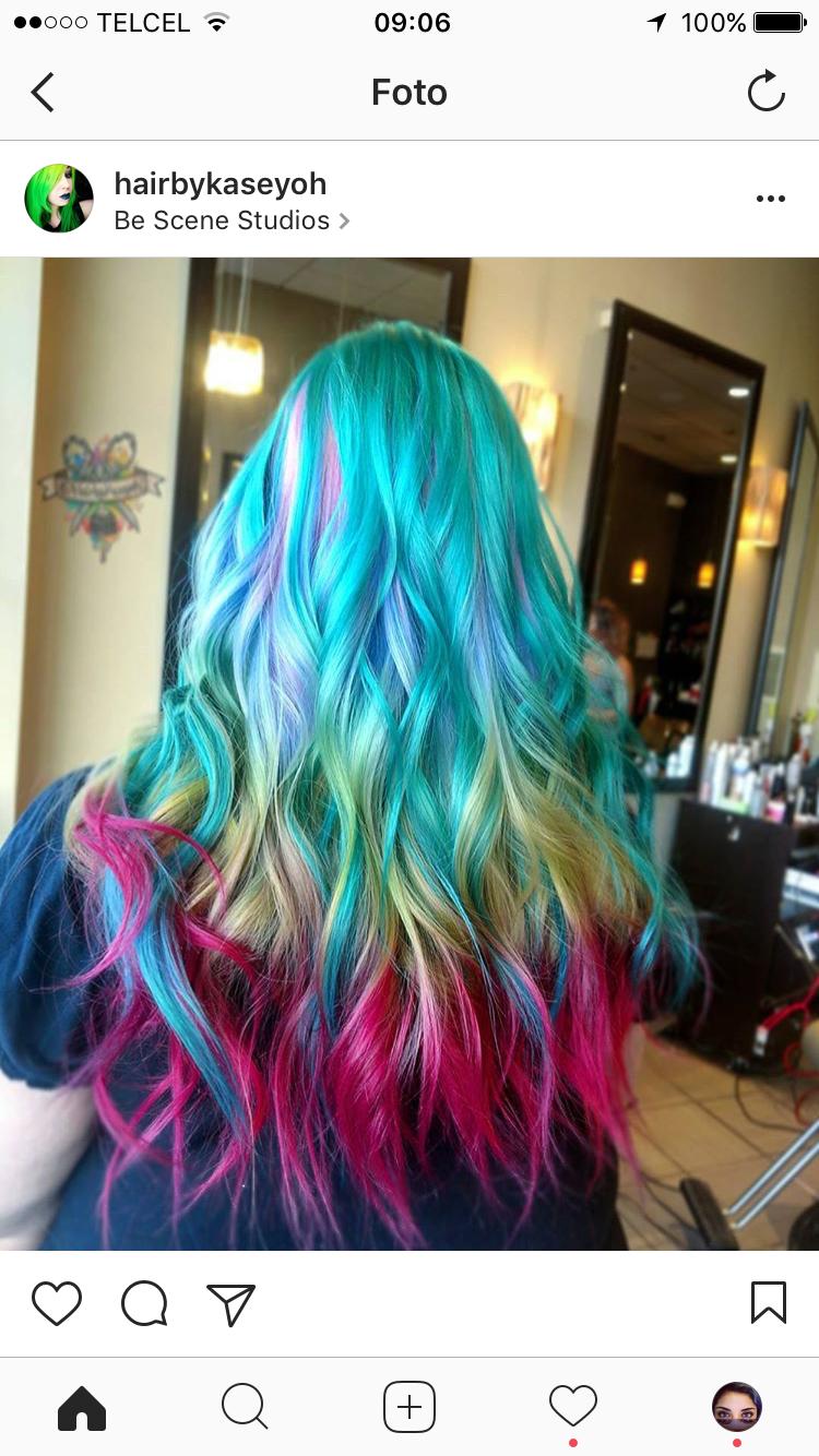 Bunte Haarfarben Werbung Pony Frisur