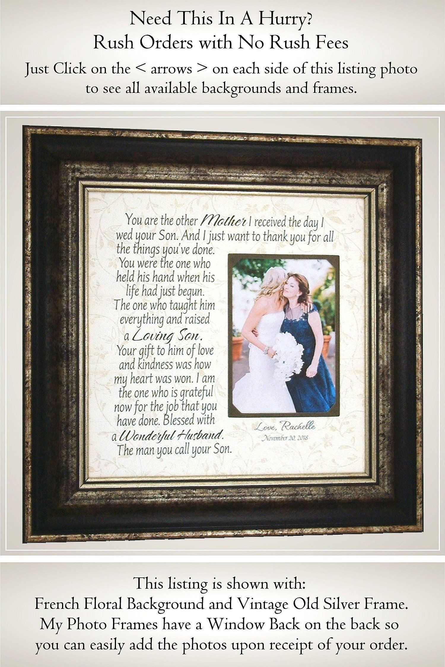 Wedding Gift for In Laws, Mother of the Groom Gifts, Parents of the ...
