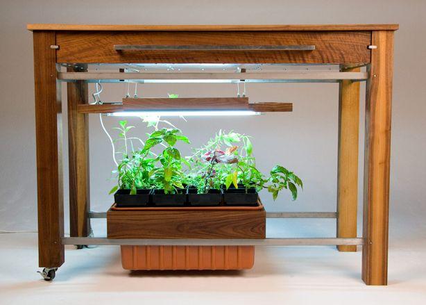 Hydroponic Kitchen Island Garden With Hydrofarm Megagarden Side