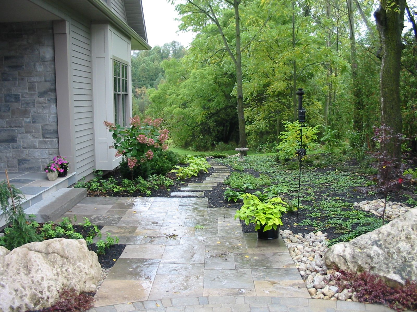 Front Garden Contact Me For Landscape Construction In The Guelph Area