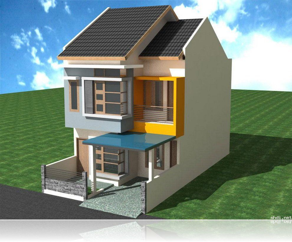 Two Floor Minimalist House Design   Simple Home Design U0026 Ideas U0026  Inspirations Image Gallery