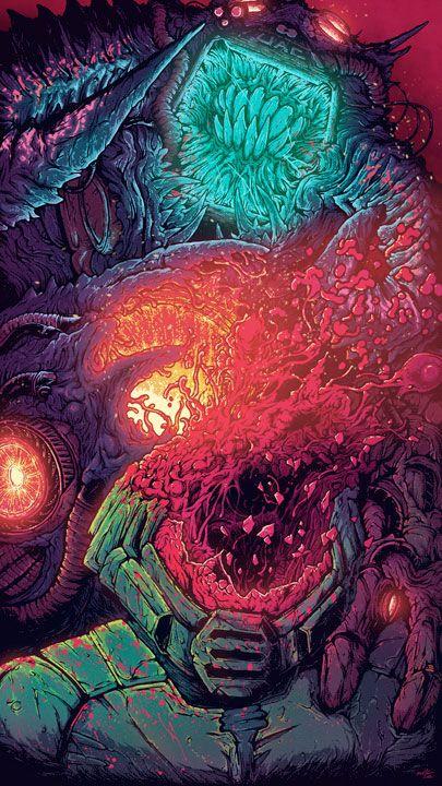 Illustration By Brock Hofer Hyper Beast Wallpaper Beast Wallpaper Cosmic Horror