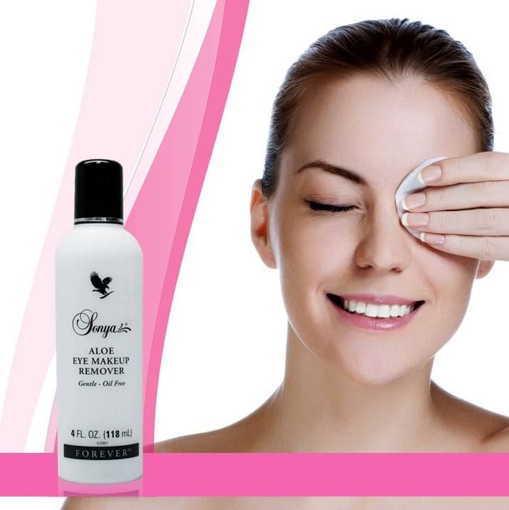 Sonya Aloe Eye Makeup Remover This Gentle Lightweight Aloe Vera Gel Formula Works Quickly And Gently To Thoroughly Eye Makeup Remover Makeup Remover Skin Care