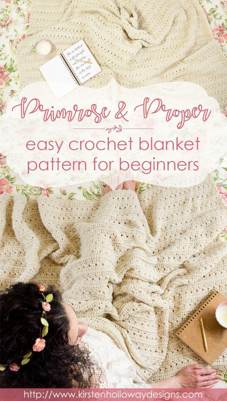 Easy Primrose and Proper Crochet Blanket Pattern | Crocheting ...