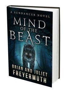 Mind of the Beast | Brian and Juliet Freyermuth  I had such a great time writing this with Brian. One of my favorite scenes is when Nick and Thelma are attacked by a wild man who for some reason, was as strong as Nick. I watch Capt. America get tossed around in Avengers dozens of times before working on this scene. I paid special attention to how the building crumbled when he was thrown against them.
