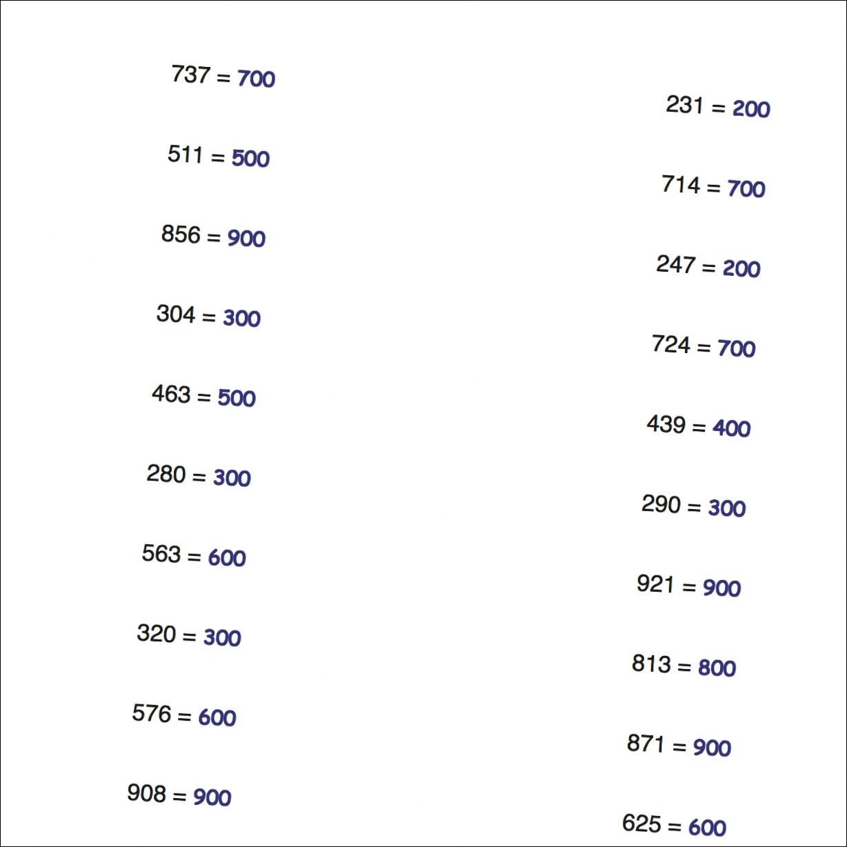 Math Worksheets Simple Rounding Numbers