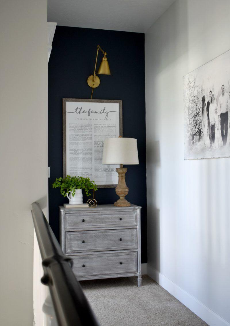 Navy Blue Accent Wall | Fancy Farmgirls