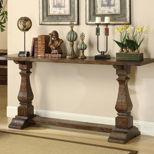 $599 | Reclaimed Wood Furniture Denver, Colorado | Solid Pine Trestle  Console Table | Solid