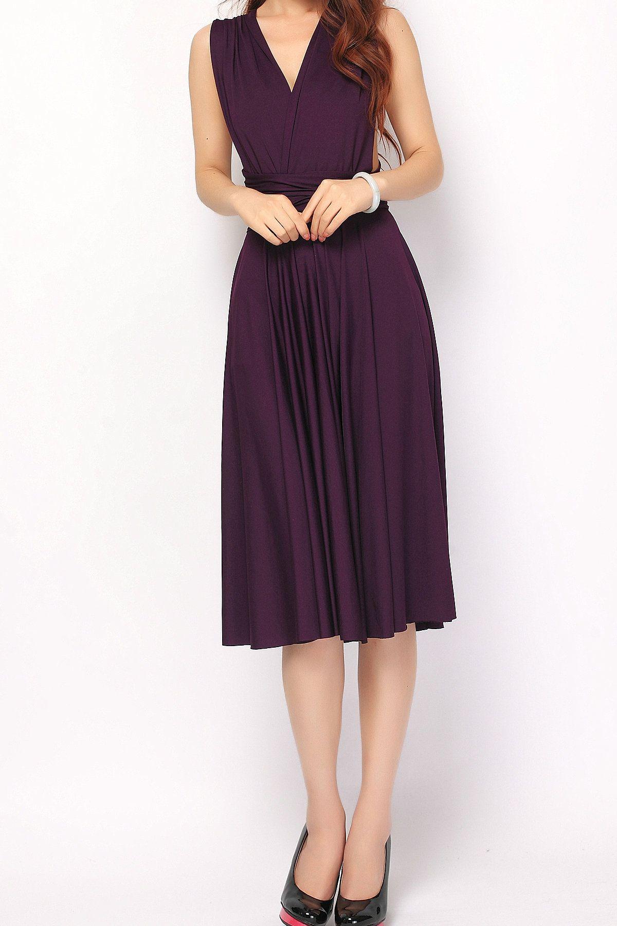 Eggplant Short Convertible Infinity Dress Bridesmaid Dress [st-17] - $49.50 :  Infinity Dress | Convertible Dress Bridesmaid Dresses Online, TinnaInfinityDress