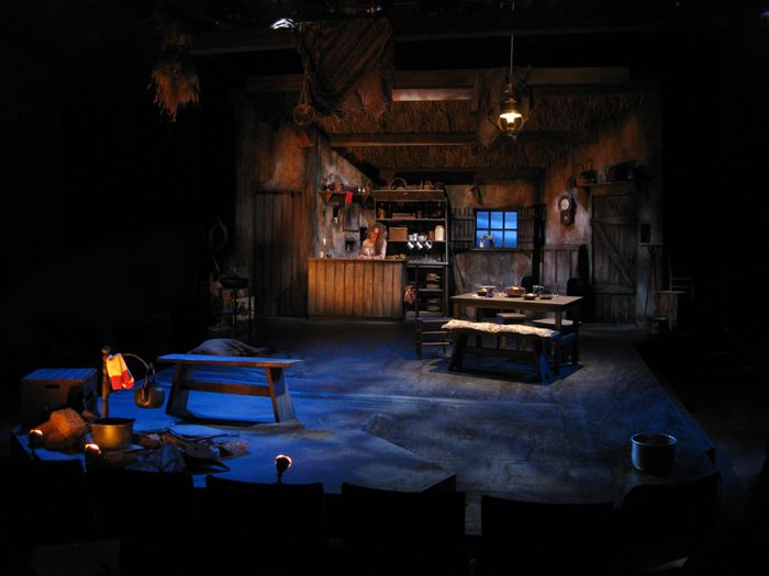 Playboy of the Western World. A Noise Within. Scenic design by Stephen Gifford.