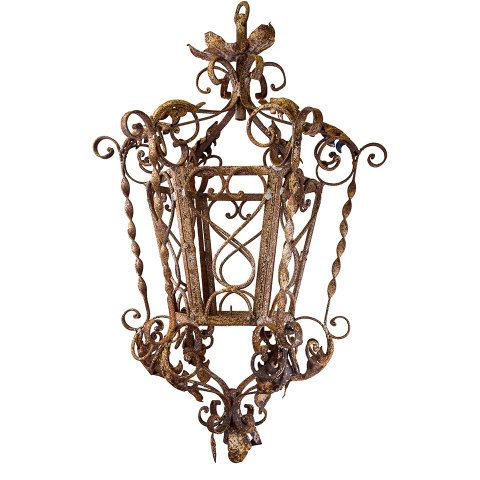 Wrought iron lantern chandelier columbus architectural salvage wrought iron lantern chandelier columbus architectural salvage aloadofball Gallery