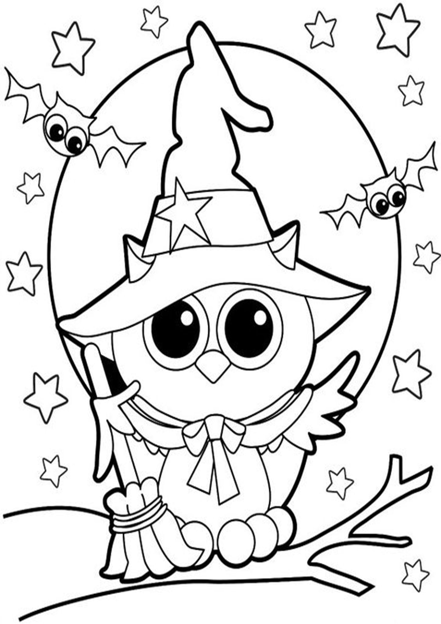 Free Easy To Print Owl Coloring Pages Free Halloween Coloring Pages Owl Coloring Pages Halloween Coloring Book