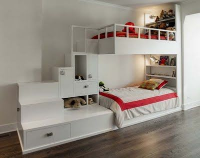 Bunk Room Friday Space Architecture And Planning Cool Bunk Beds Bunk Bed Designs Bunk Beds With Stairs