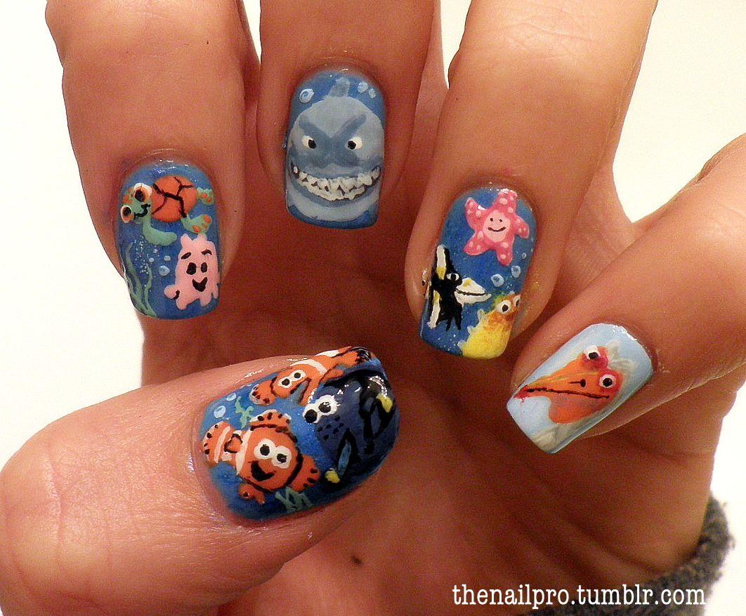 finding nemo nails   ✖ nail art ✖   Pinterest   Nagelschere