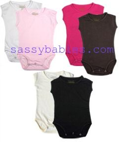 Basic Cap sleeve onesies available in 0-6 months-5 years  http://www.sassybabies.com/item.php?item_id=639&category;_id=123
