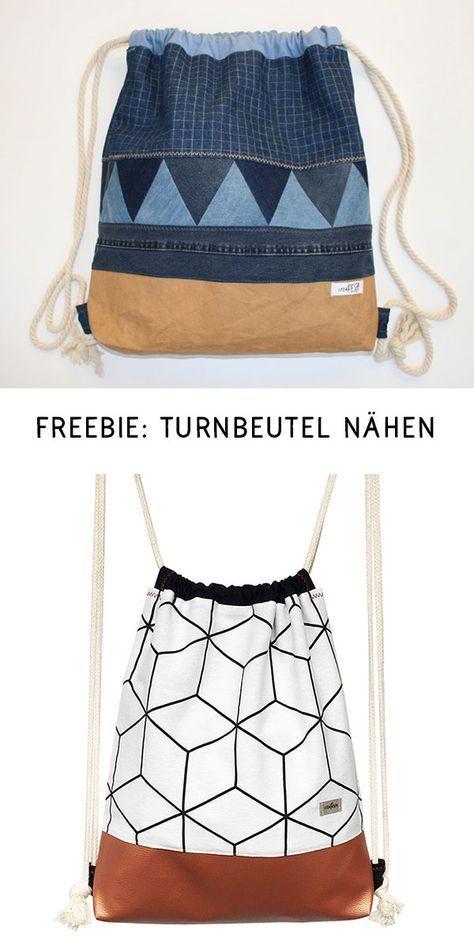 Turnbeutel nähen – gratis Schnittmuster und Anleitung - crearesa.de