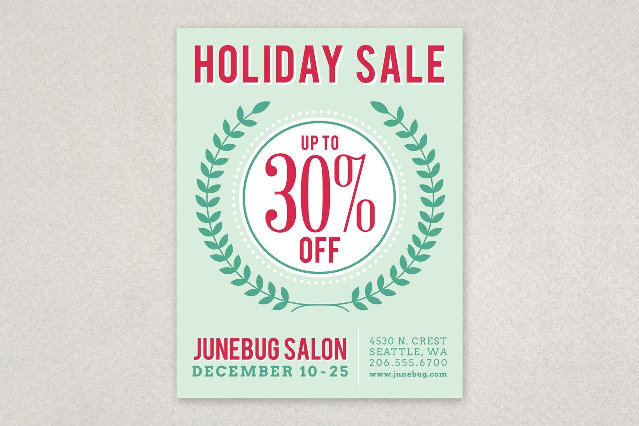 Modern Holiday Sale Flyer Template Inkd Flyer Template Sale Flyer Holiday Sales