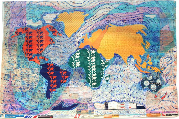 From the Hand Drawn Map Association World map made of collaged ...