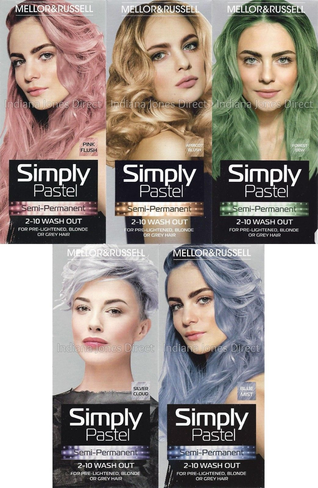 73e04d4ea92061 Mellor   Russell Simply Pastel Hair Colour Blue Green Silver Pink Blonde  Semi-P  ebay  Fashion