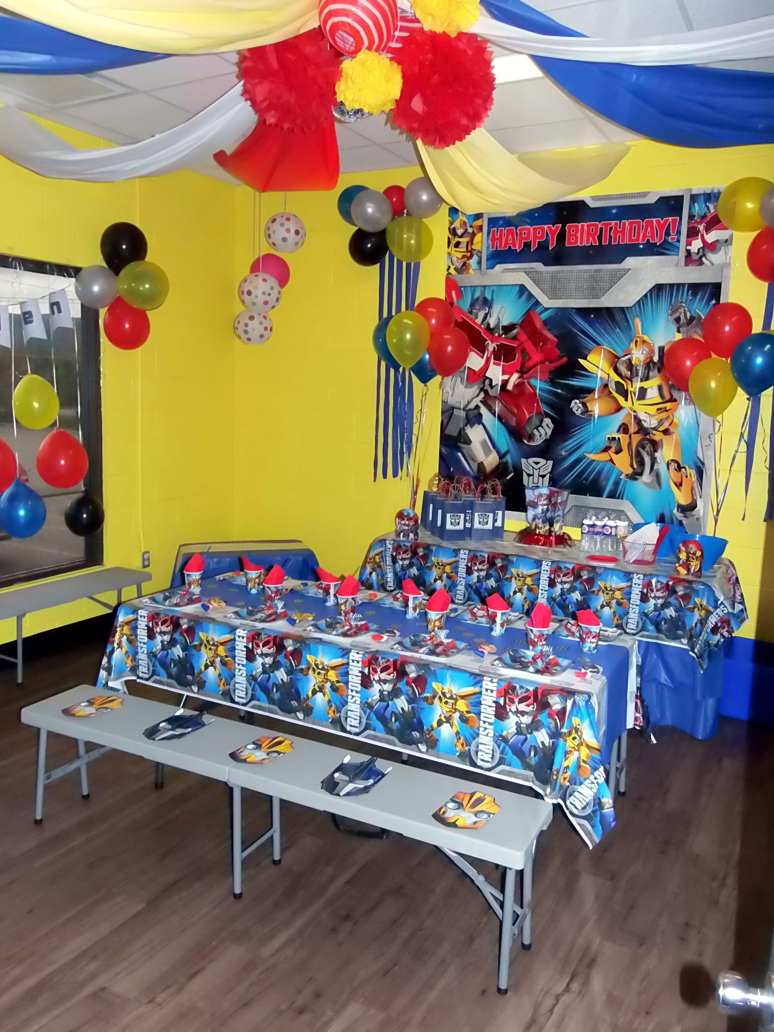Jump2It: Transformers themed birthday party   Birthday ...
