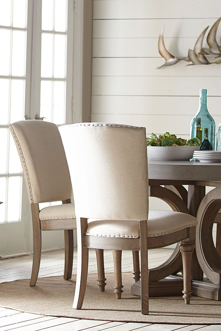 Complete Your Dining Room's Elegant Appearance With Our Lakeview Custom Upholstered Dining Room Chairs Design Inspiration