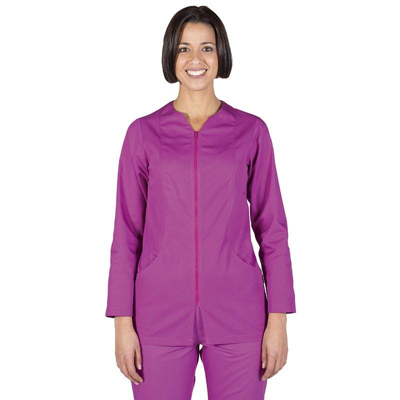 6236 con y manga mujer color cremallera malva blusa en larga vqS7rEv