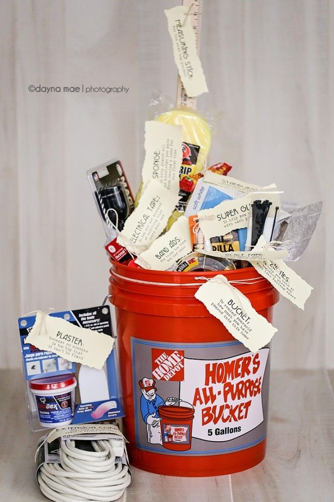gift handyman gifts him basket perfect homeowner baskets creative homeowners housewarming christmas diy owners improvement hubby themed idea owner bucket