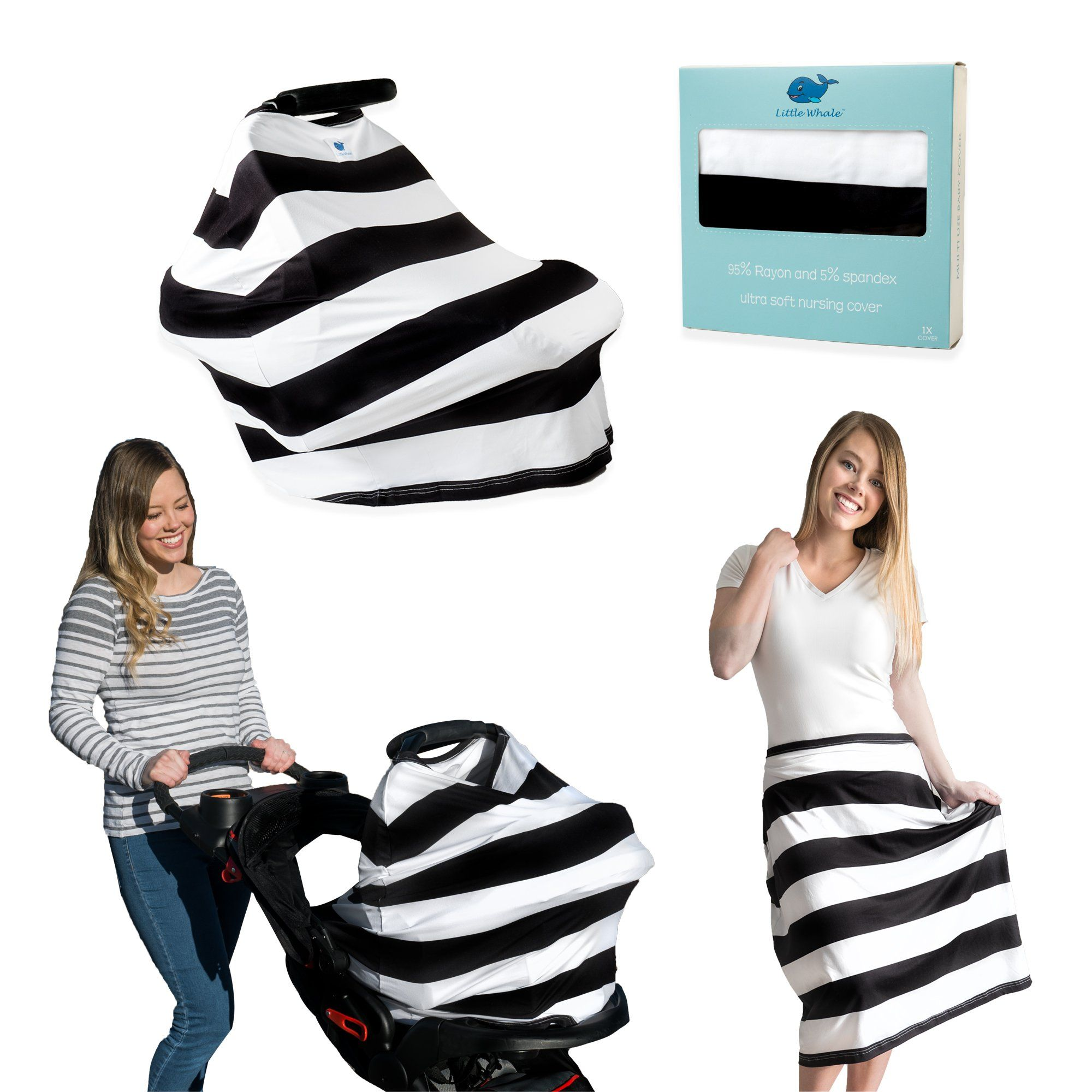 Nursing Cover Premium Soft Baby Car Seat and Stroller