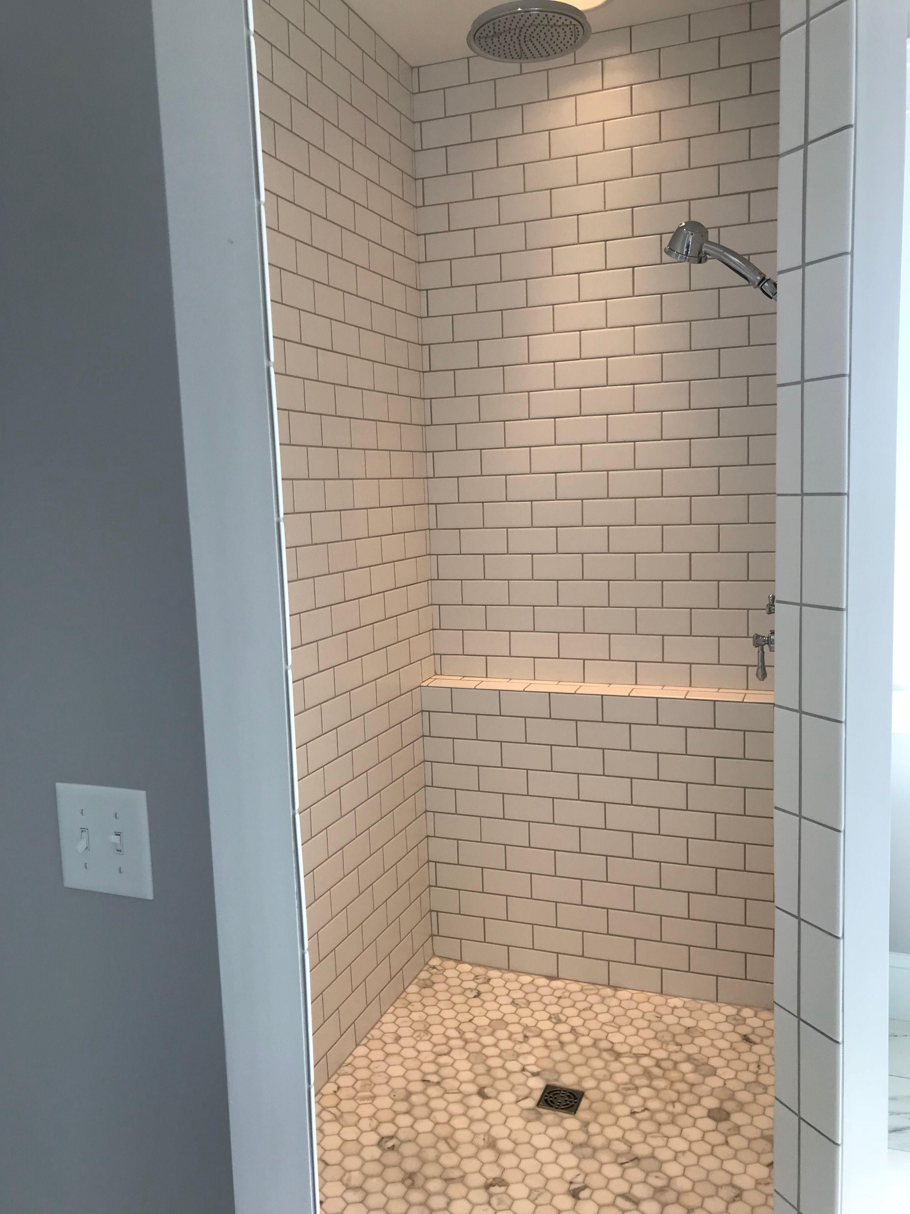 Subway Tile Shower Bathroom Remodel Master Subway Tile Showers Tile Walk In Shower