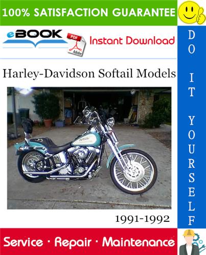 Harley Davidson Softail Models Fxstc Flstf Flstc Fxsts Motorcycle Service Manual 1991 1992 Softail Harley Davidson Harley Bikes