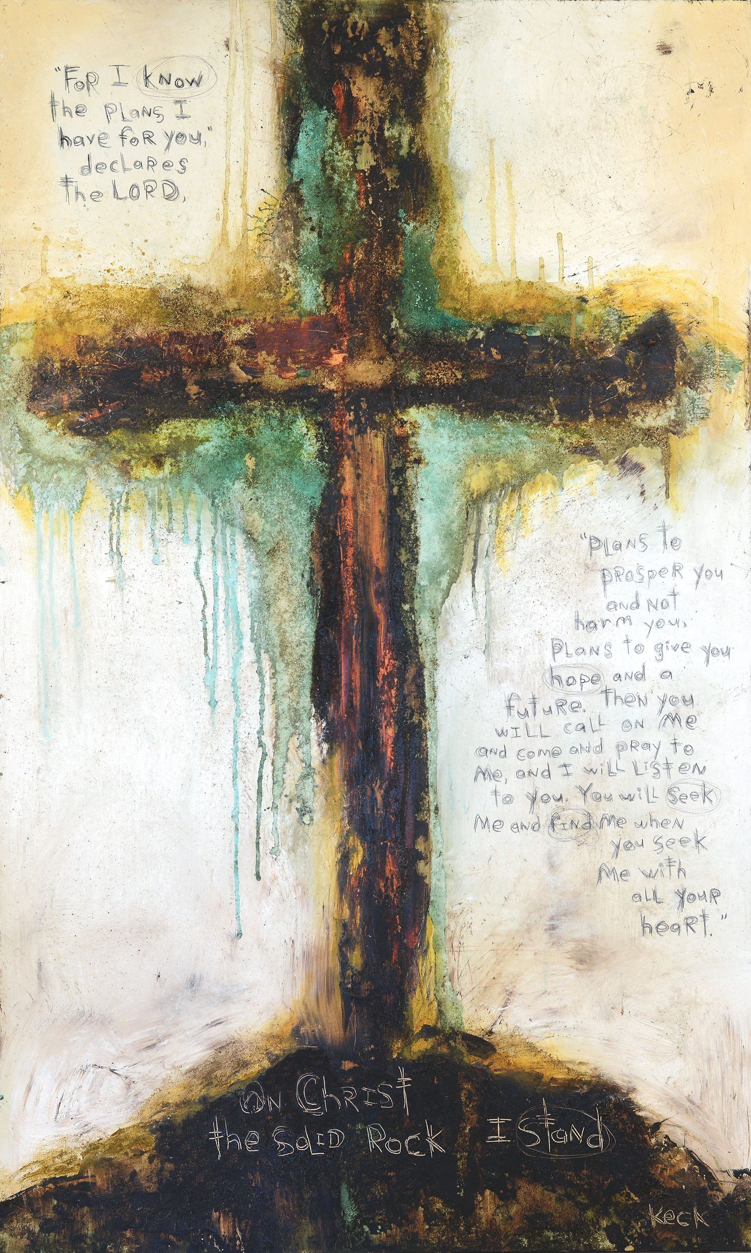 Christ Solid Rock Stand Michel Keck Art