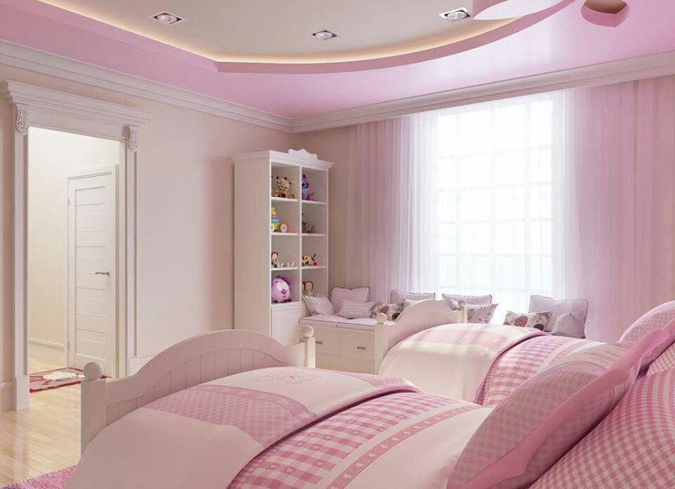 girls room design ideas gypsum false ceiling with