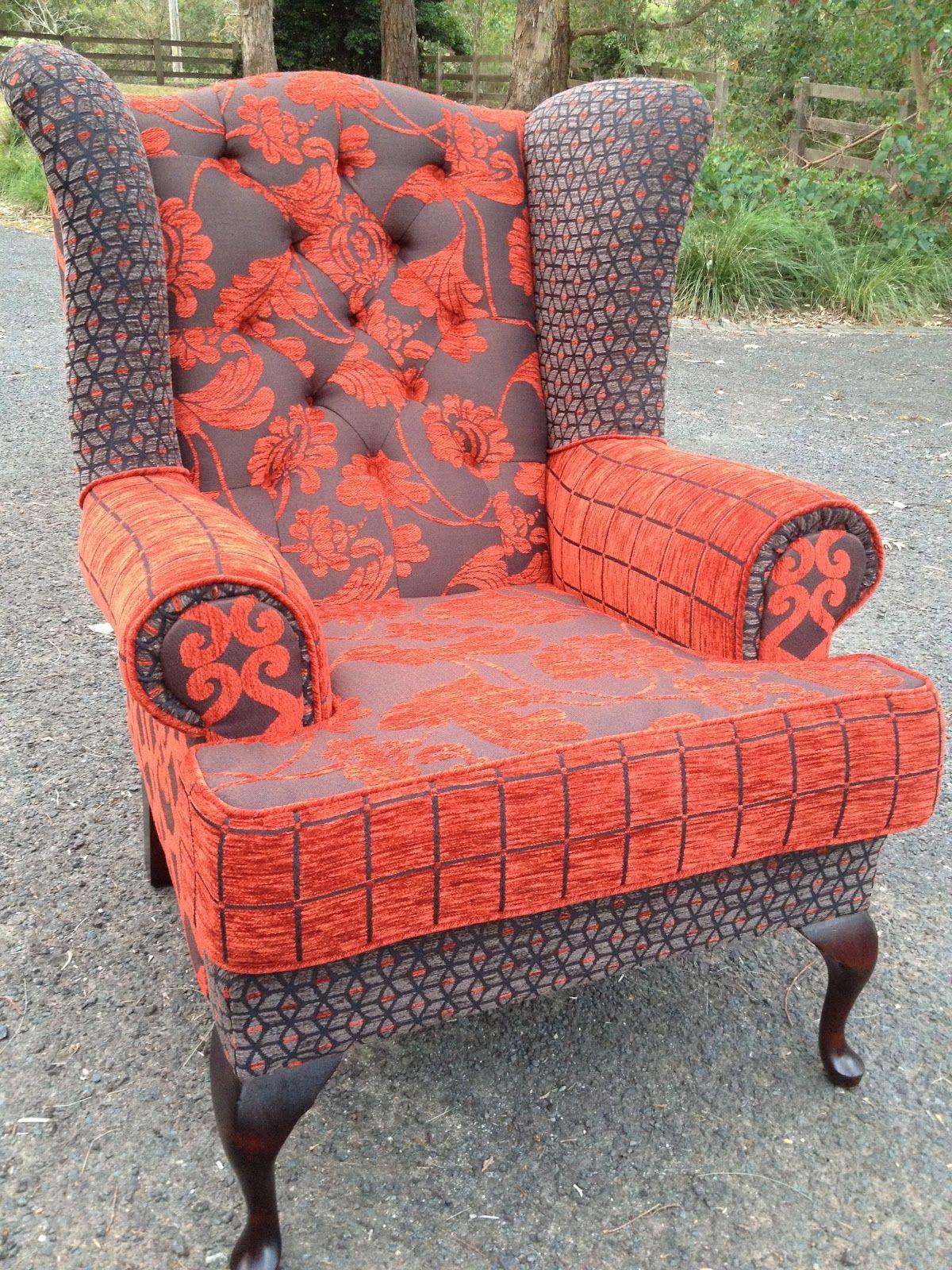 Piece Work Wingchair, In Warwick Fabrics Retrospect (40% Recycled Plastic  Content)