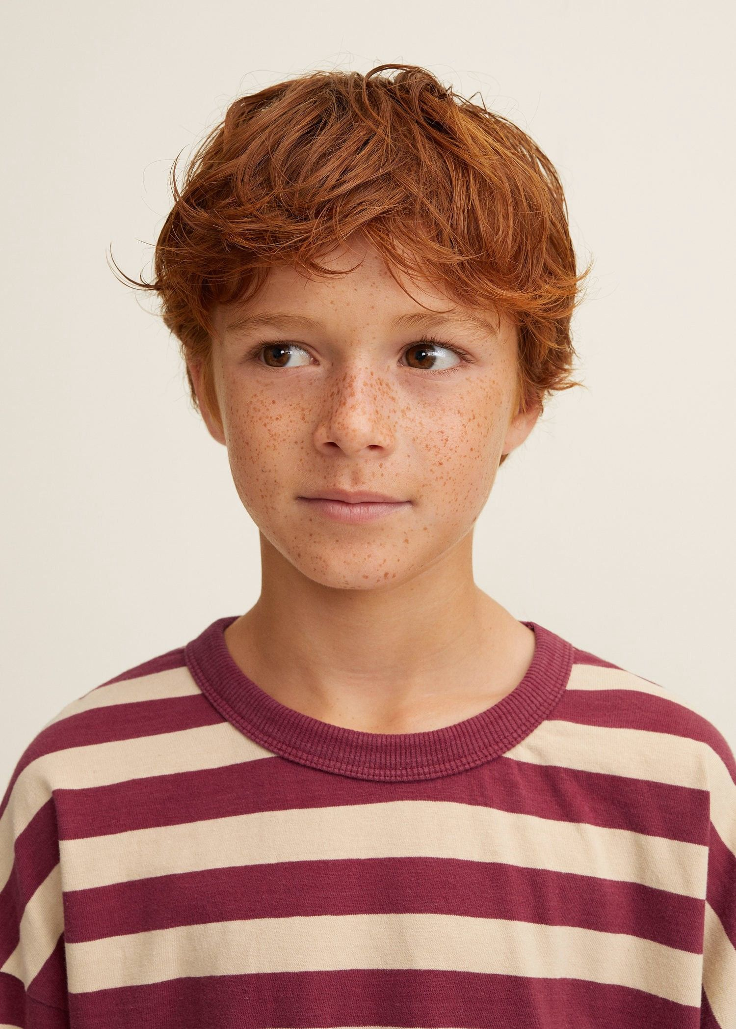 Mango Striped Cotton T Shirt Olive Green 13 14 Years 164cm Boy Hairstyles Young Cute Boys Ginger Men