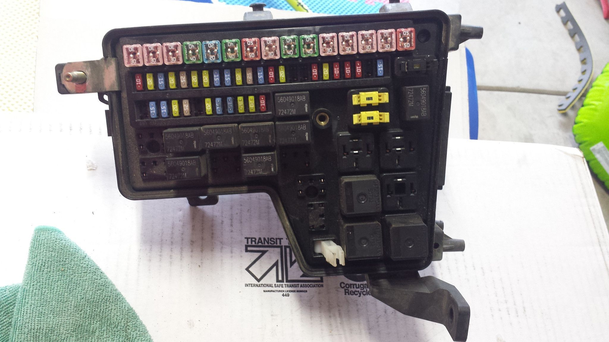 small resolution of 04 05 dodge ram 1500 5 7l fuse box integrated power module p56051039ad a