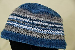 Striped Beanie Hat | AllFreeCrochet.com