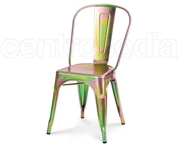 Sedie Industriali ~ Virginia sedia metallo old style trasparente sedie vintage e